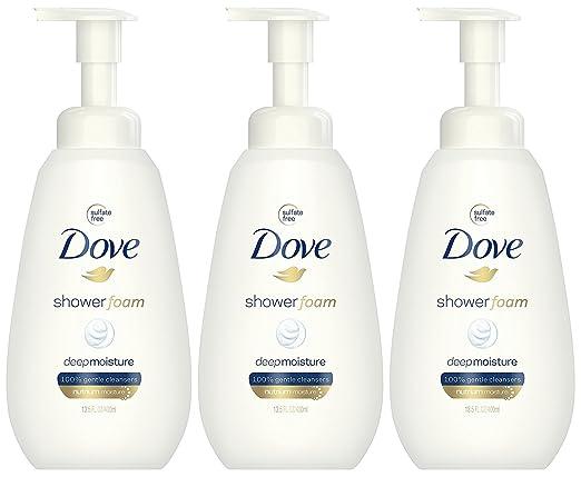 Dove Shower Foam Deep Moisture Foaming Body Wash, 13.5 Ounce (Pack of 3)