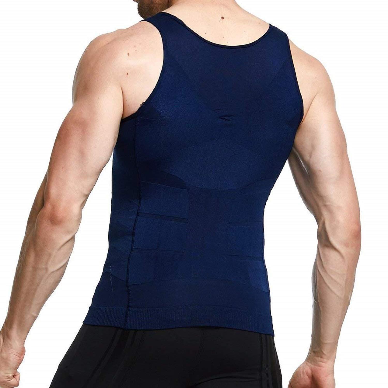 56099e8e7323e ... Semir Mens Compression Shirts Body Shaper Slimming Vest Elastic Slim  Muscle Tank Shapewear ...