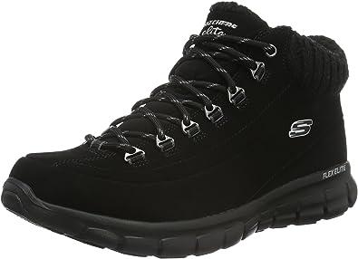 la seguridad Hacia abajo Posicionamiento en buscadores  Skechers Women's Synergy Winter Nights Ankle Boots: Amazon.co.uk: Shoes &  Bags