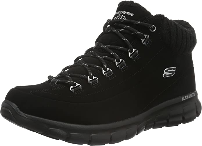 Skechers Synergy Winter Nights Sneakers Stiefel Damen Schwarz