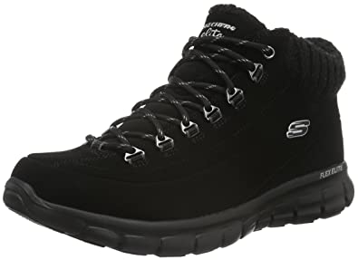 Skechers Synergy Winter Nights Womens Ankle Boots Black 7