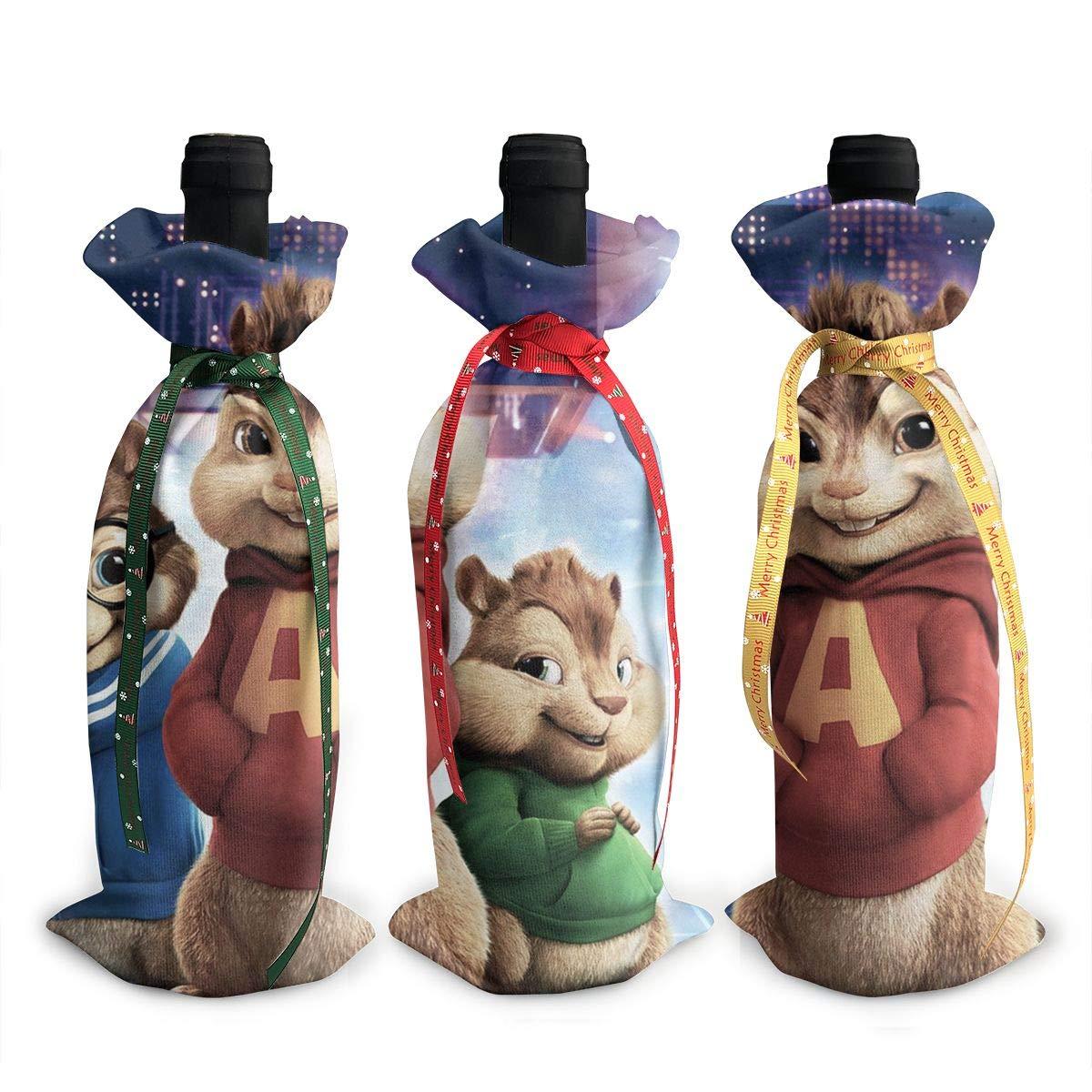 Alvin and The Chipmunks ワイントートキャリアバッグ/財布 旅行/キャンプ/ピクニック用 3個セット B07K4MH28R
