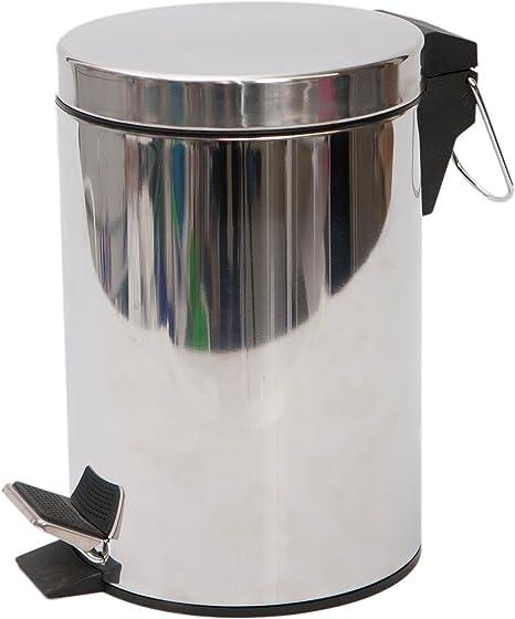 PAMEX - Papelera de Acero Inoxidable (5 litros)