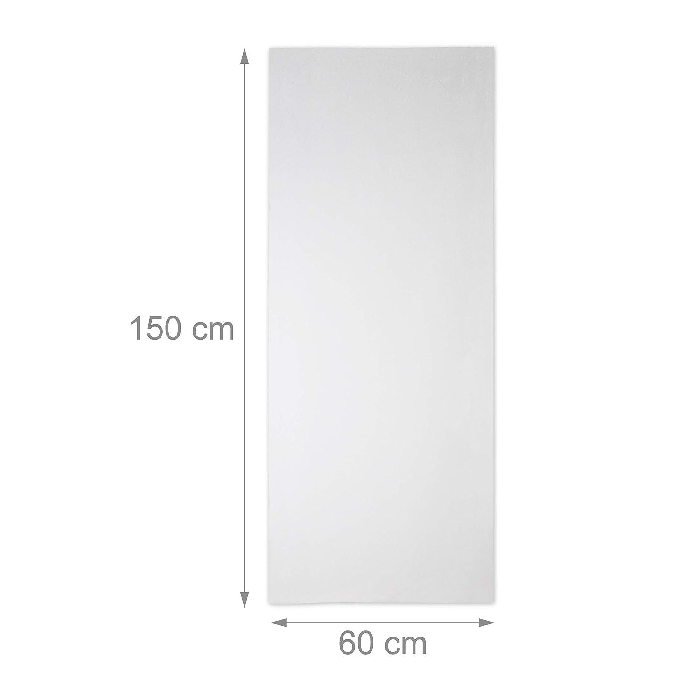 60 x 100 cm Relaxdays 10023703/_836 Film Plastique Verre Opale Adh/érent Statique Opaque Protecteur Vitre Fen/être PVC Laiteux 60x100 cm