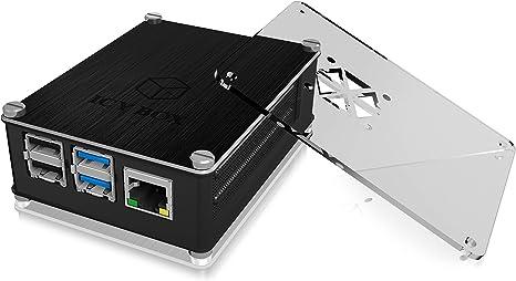 RPI 4B per RPI 4 modello B Grigio Evelina colore nero Custodia in alluminio per Raspberry Pi 4