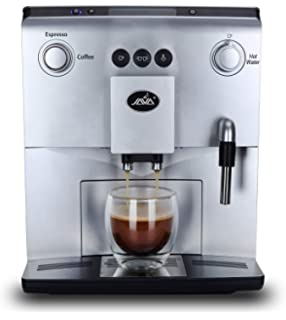 Auto-Coffee Machine with Cappuccino, Milk Frother, Latte crema System,Text Display