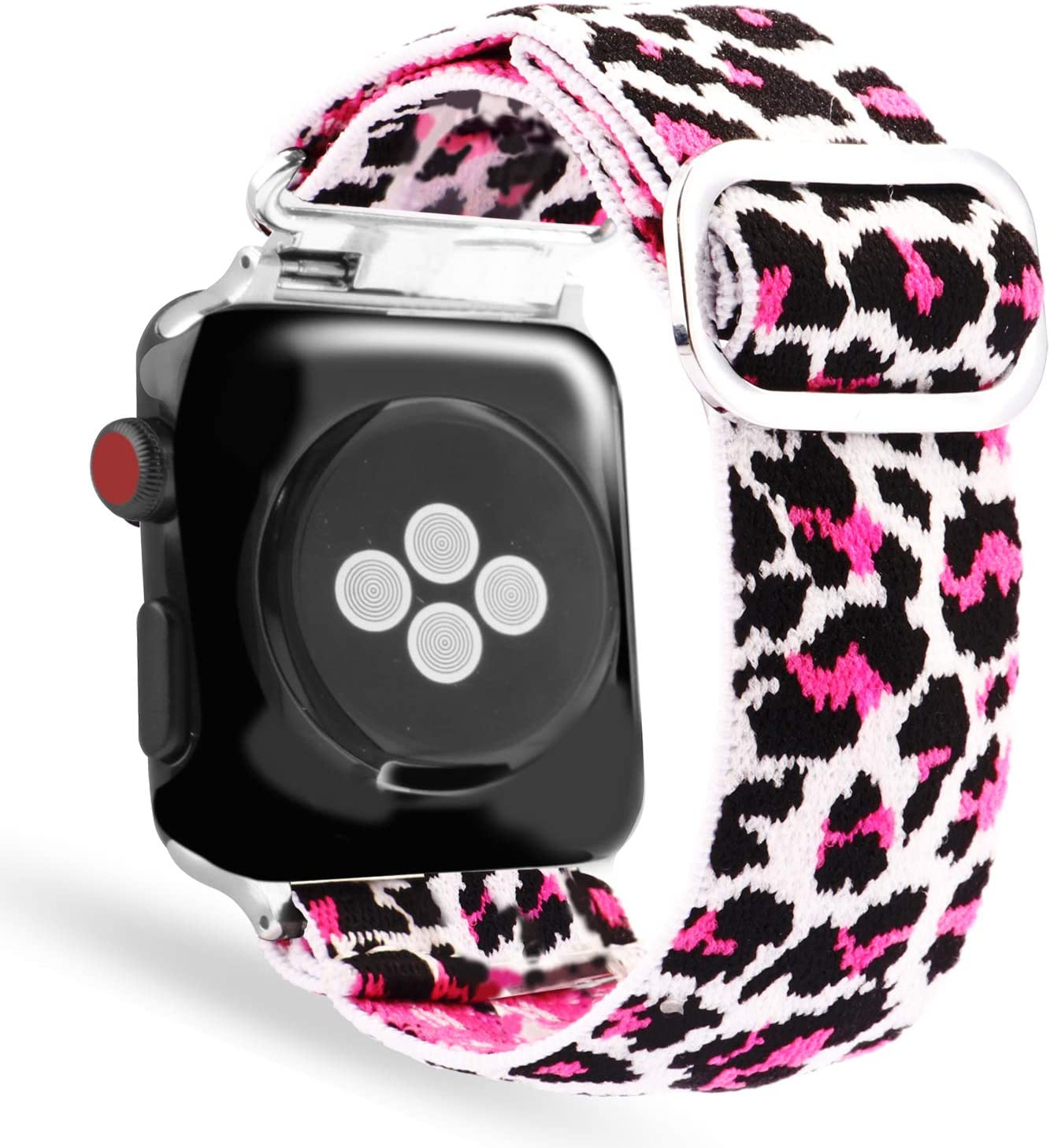 Sport Loop Band Compatible with Apple Watch Band 38mm 40mm 42mm 44mm iWatch Series 6 5 SE 4 3 2 1 Strap,Nylon Velcro Weave Women Men Replacement Wristband Stretchy Elastic Breathable Soft Light