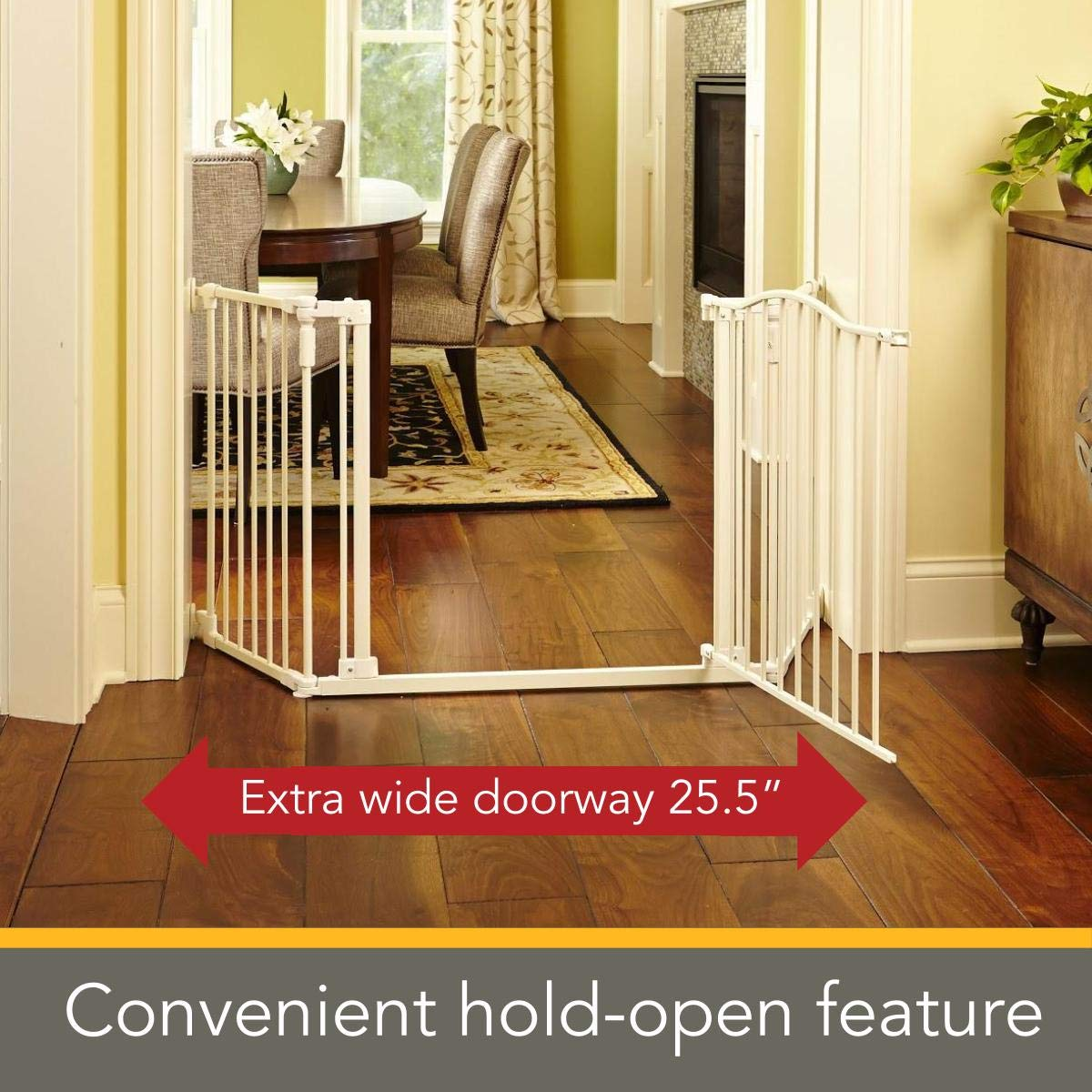 mounts included Hardware mount 30 tall, Bronze North States 72 Wide Deluxe D/écor Baby Gate: Provides safety in extra-wide spaces with one-hand functionality Fits 38.3-72 wide North States Industries 4934S