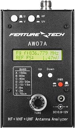 Gyswshh AW07A HF/VHF/UHF 160M Analizador de Antena de ...