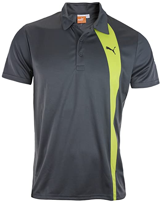 a69e911c9 Amazon.com: Puma Men's GR Poly Polo Shirt (Medium, Dark Shadow/Lime ...