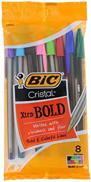 Bic Cristal Xtra Bold Pack Of 8: Amazon.es: Salud y cuidado personal
