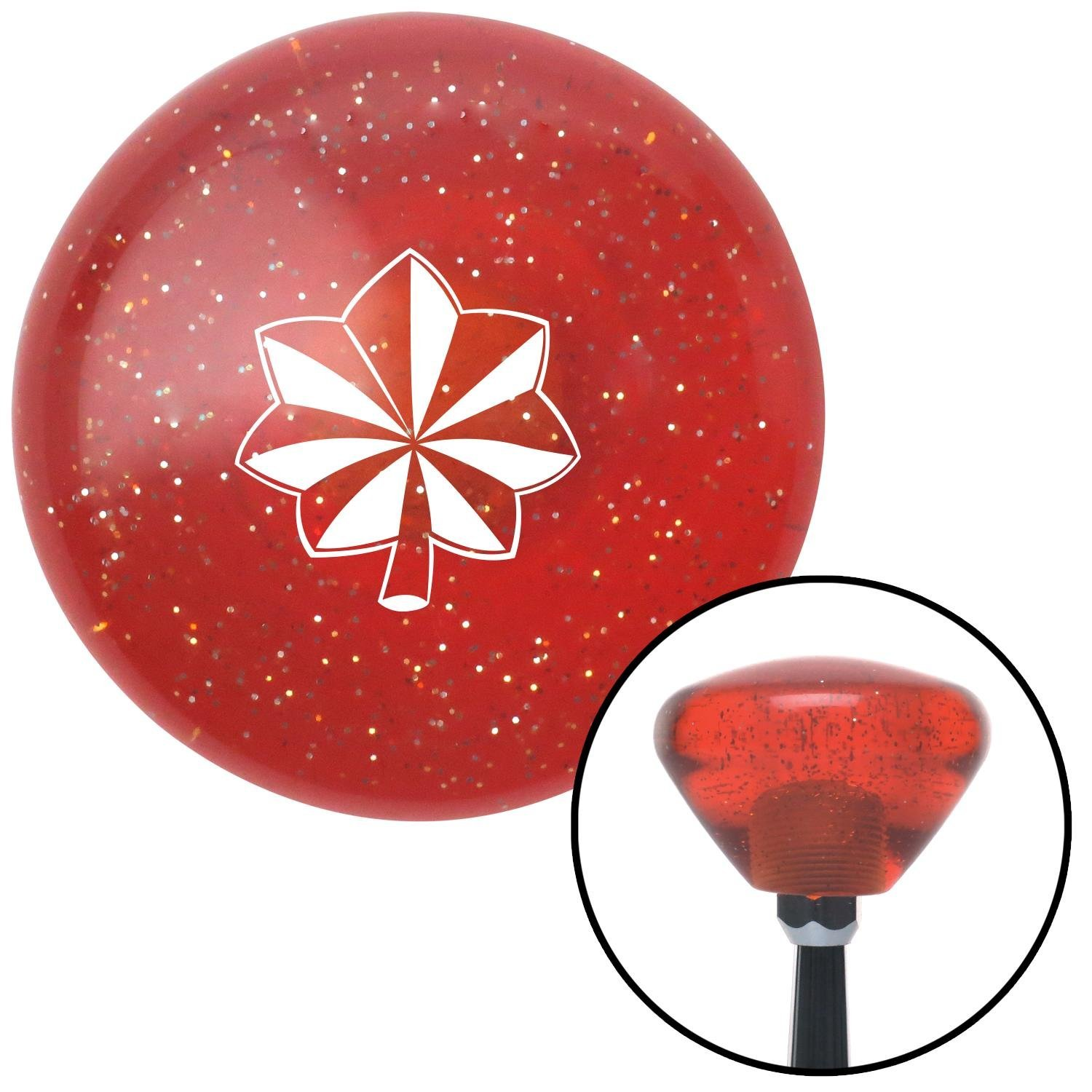 White Officer 04 and 05 American Shifter 181776 Orange Retro Metal Flake Shift Knob with M16 x 1.5 Insert