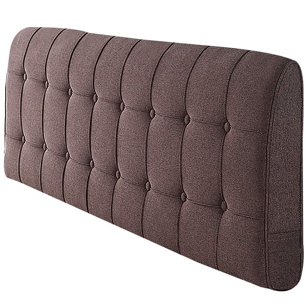 GUOWEI ベッドサイドクッション 布張り ヘッドボード ウェッジ バックレスト サポートスポンジ 5色 6サイズ 150x58x10cm ブラウン 150x58x10cm ブラウン B07LFFNZY3