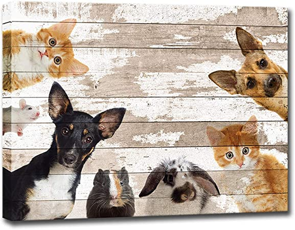 Dog Home Decor Give a Dog a Bone Canvas Wall Art Print