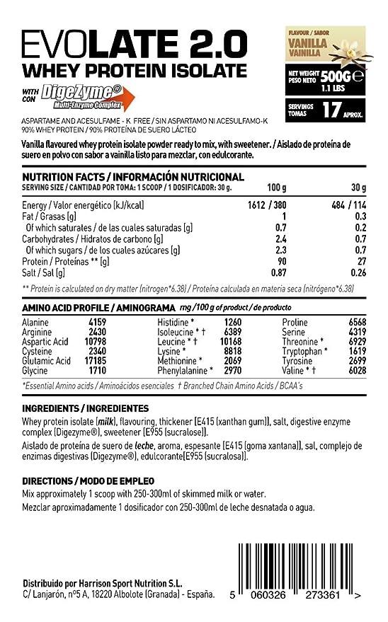 HSN Sports Proteína Aislada de Suero Sabor Chocolate - 500 gr: Amazon.es: Salud y cuidado personal