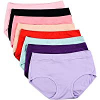 97c246c455e3 Buankoxy Women's 8 Pack Stretch Cotton Panties, Assorted Colors