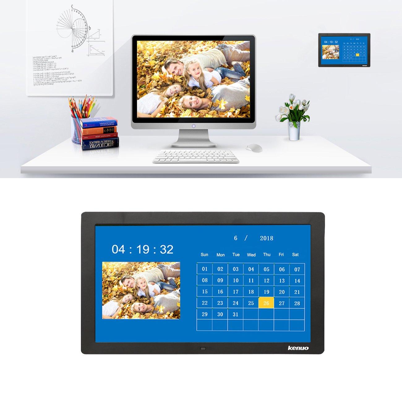 Kenuo 15 Inch Digital Photo Frame,Advertising Media Player 16:9 ...