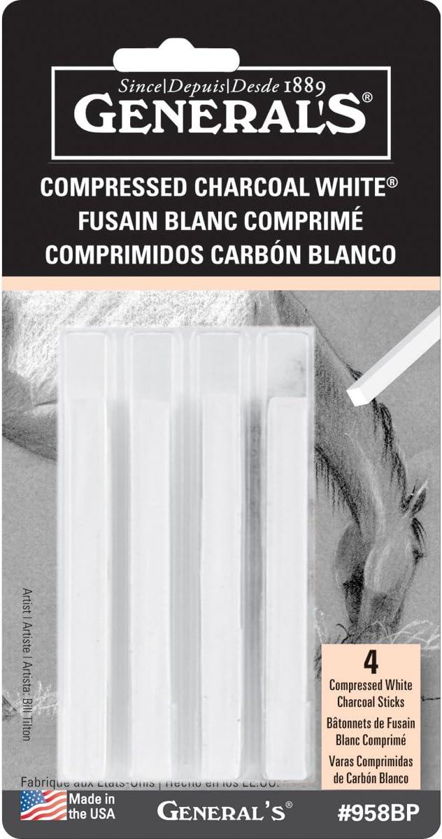 General Pencil Compressed Charcoal Set 2B Hard