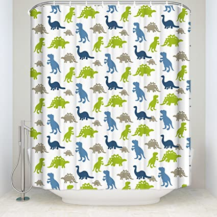 Peachy Zl Home Dinosaurs Shower Curtain Sets Collection Of Various Funny Dinosaurs Design Bathroom Decorations Polyester Fabric Beutiful Home Inspiration Xortanetmahrainfo