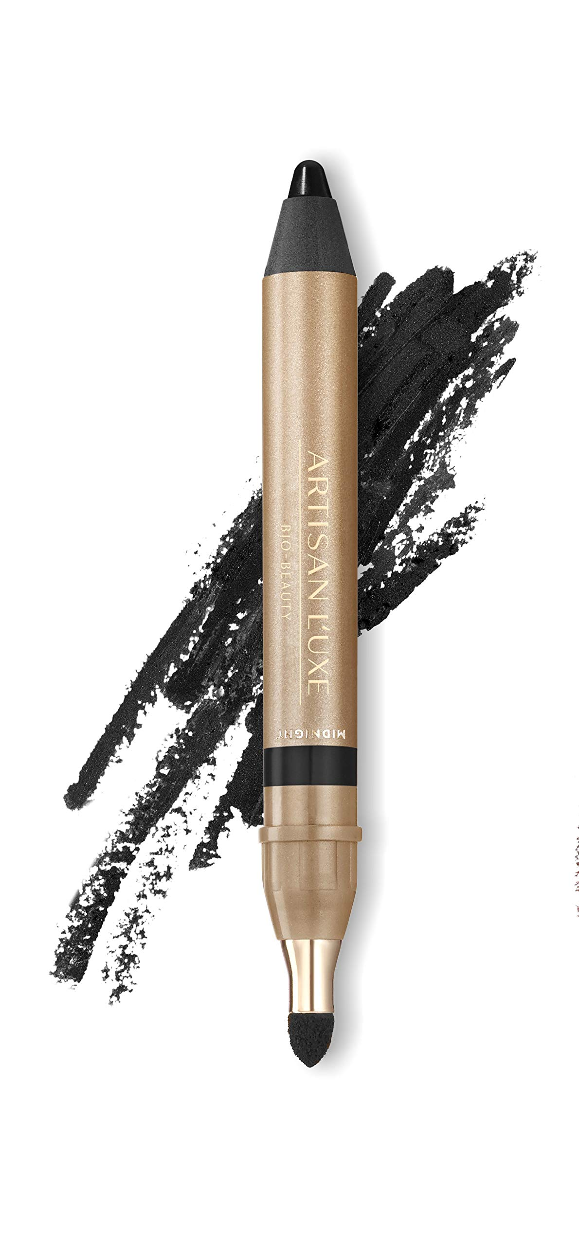 Velvet Eyeliner Pencil by Artisan L'uxe Beauty | Jumbo Eye Pencil for Smokey Eye | Water-Resistant & Smudge Proof | Long-Lasting | Sue Devitt | Black | Midnight