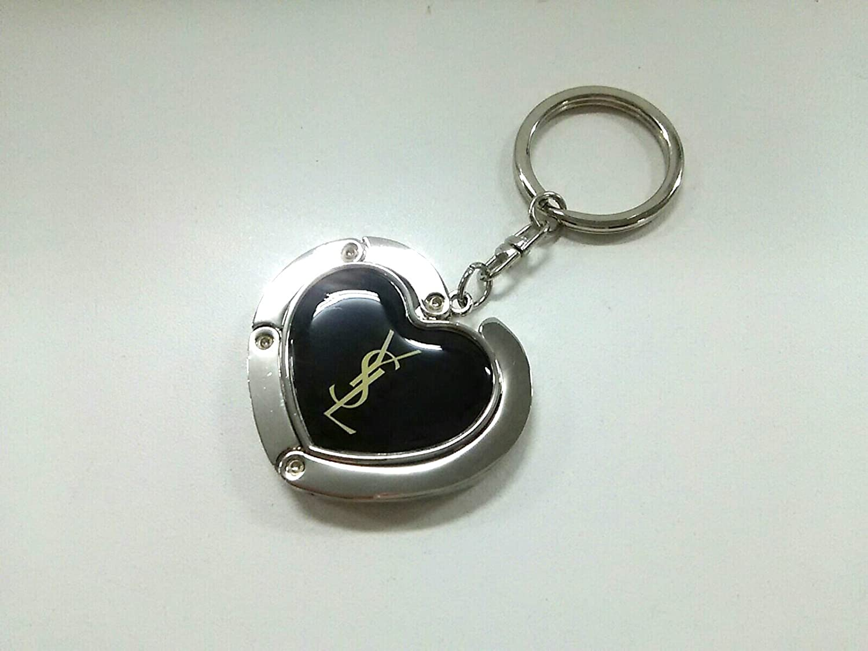 (イヴサンローラン) Yves Saint Laurent キーホルダー(チャーム) 黒×シルバー 【中古】 B07F12CWQH  -