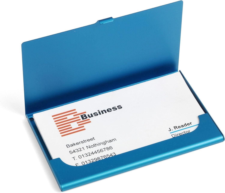 Visitenkartenetui blau mit individueller Namensgravur
