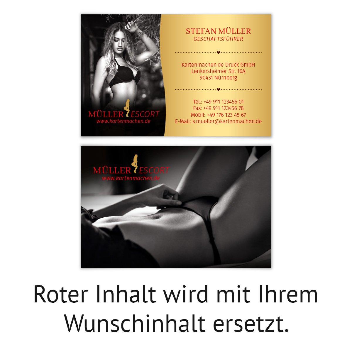 500 x Visitenkarten individuell Business Karten 300g qm 85 85 85 x 55 mm - Escort Sexy Dessous B07F46LGTF   Schön geformt    Haltbarer Service    Großer Verkauf  5ce0fd