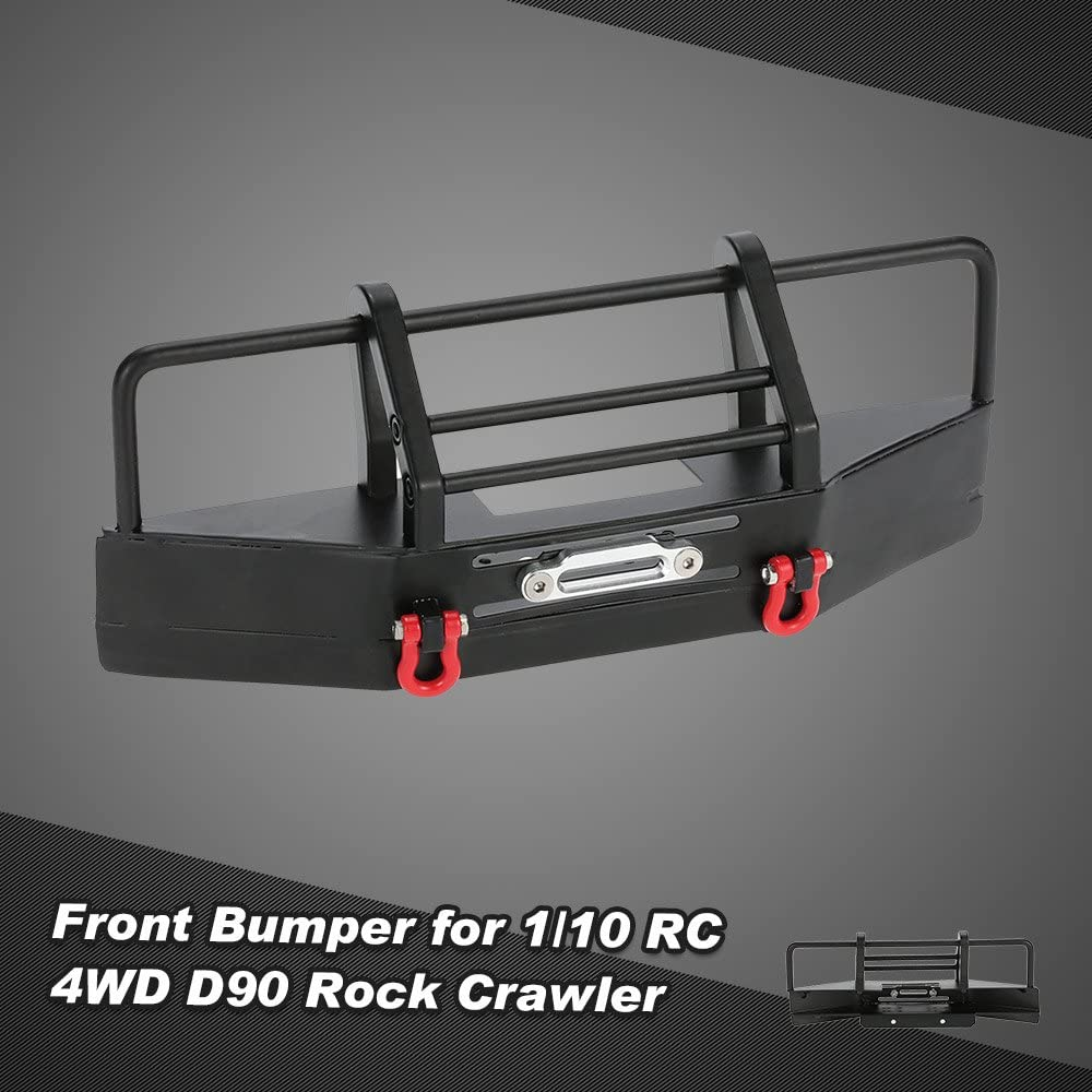 Metal Front  Bumper with Trailer Buckle for 1//10 RC4WD D90 RC Rock Crawler D1T2