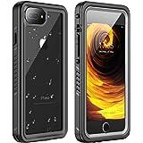 Huakay iPhone 7 Plus Waterproof Case, iPhone 8 Plus Waterproof Case Full Body Shockproof Sandproof Dirtproof IP68 Underwater