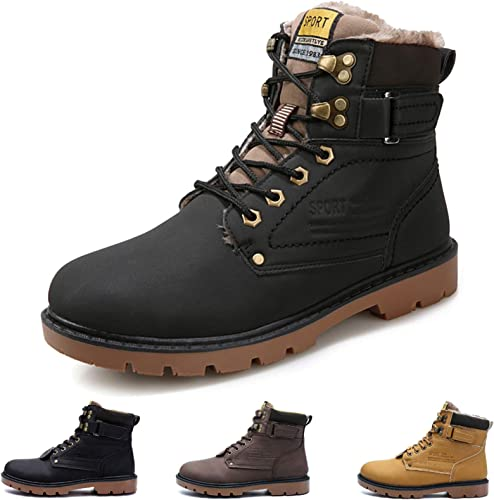 Camfosy Mens Ankle Boots, Winter Warm