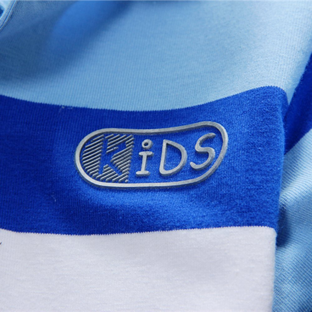 BOBORA Baby Boys Summer Cotton Short Sleeve Clothes Tops T-Shirt Striped Polo Shirt 1-7Years