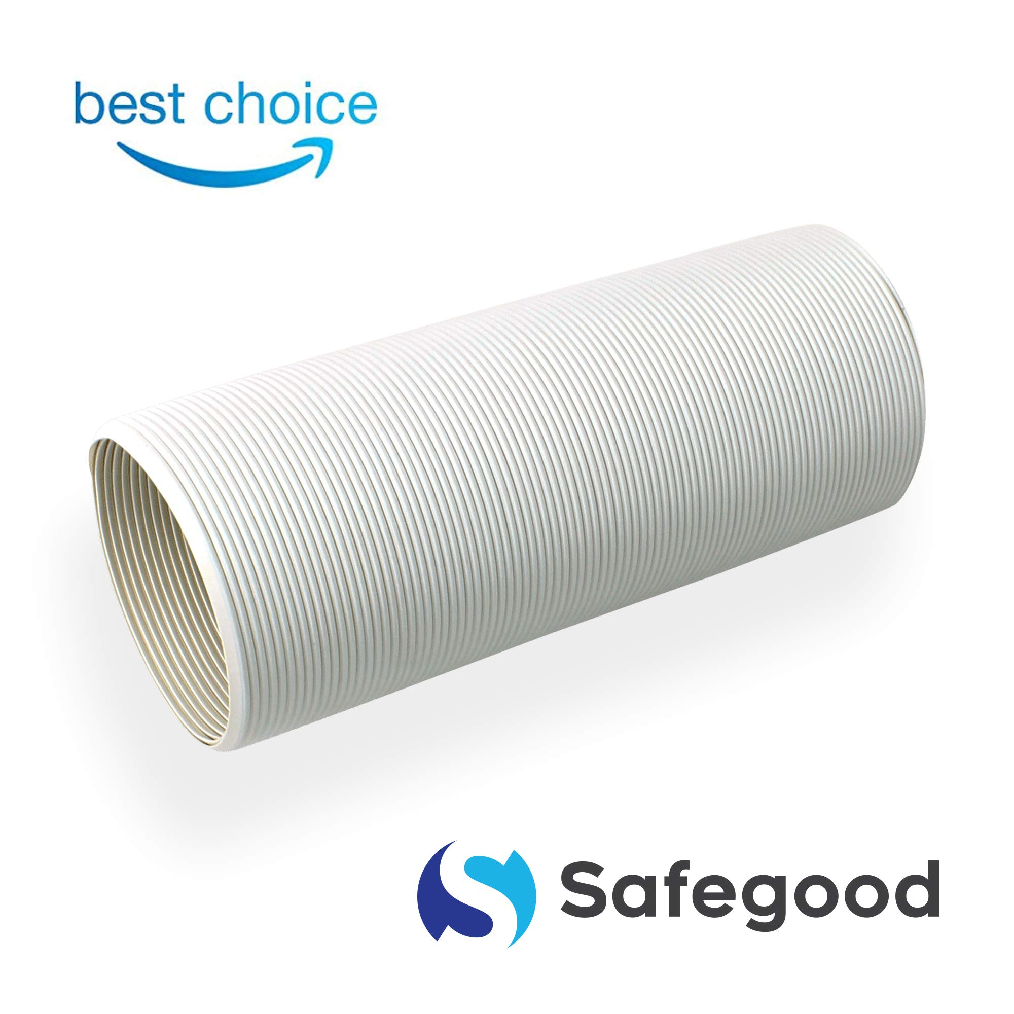 Safegood Air Conditioner Exhaust Hose Premium - for Portable AC Universal Counterclockwise Flexible Hose 5 Inch Diameter 59 Inch Vent