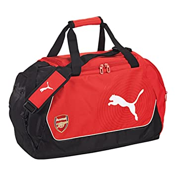 e0210af0ec4e Puma Arsenal Football Medium Duffel Bag Red