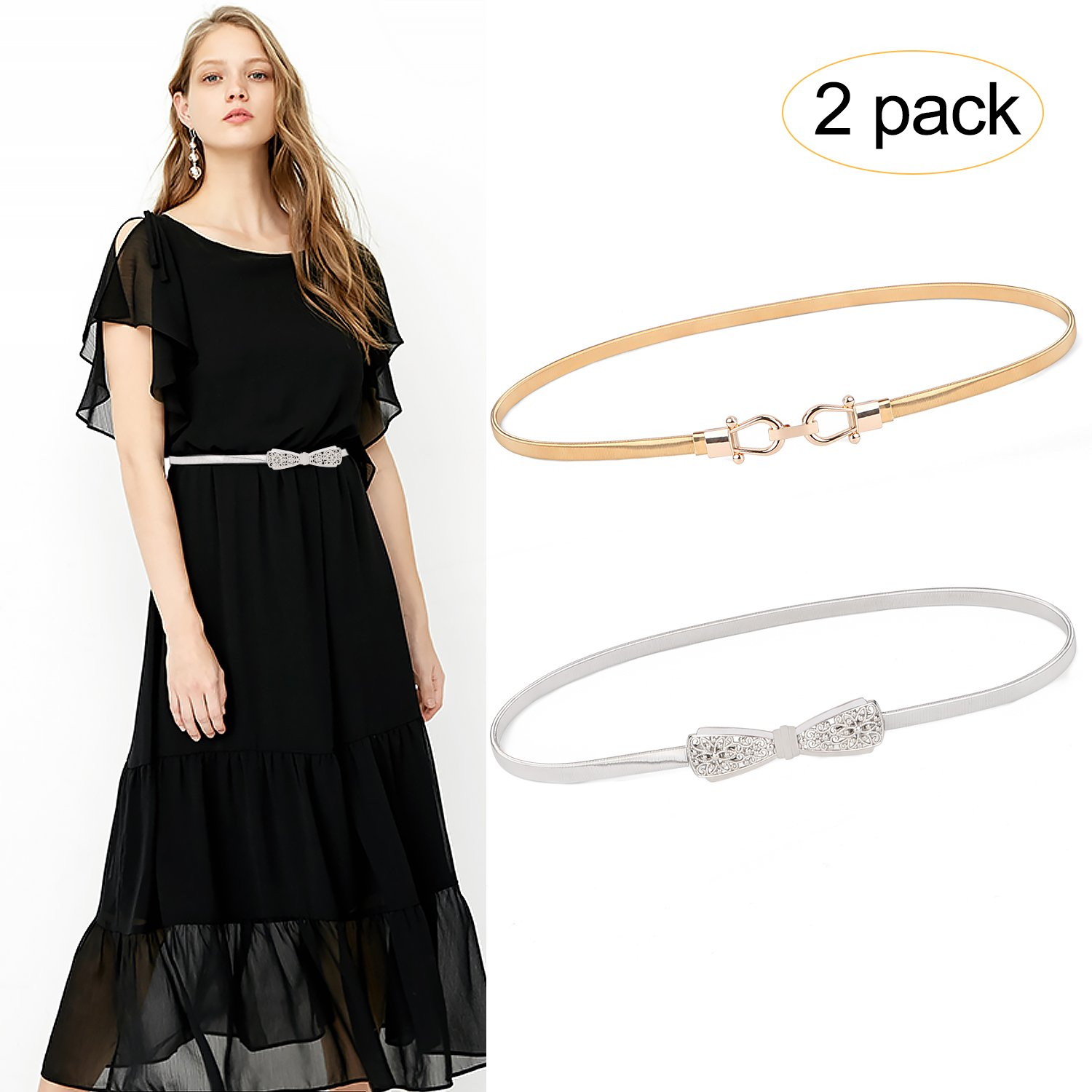 f21d6eedf8 ✿Size info✿ --- The sliver and gold waist belt has three size to choose.  Small perfect for waist size 27\'\'-30\'\', Middle perfect for waist size  ...