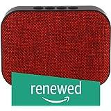 (Renewed) Live Tech Portable Yoga Bluetooth Wireless Speaker with USB/Micro SD/FM/AUX/Mic - Black (Red)