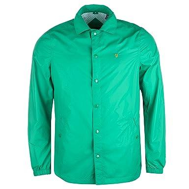 Para hombre Farah Vintage la Hurst corte Away cuello chaqueta de ...