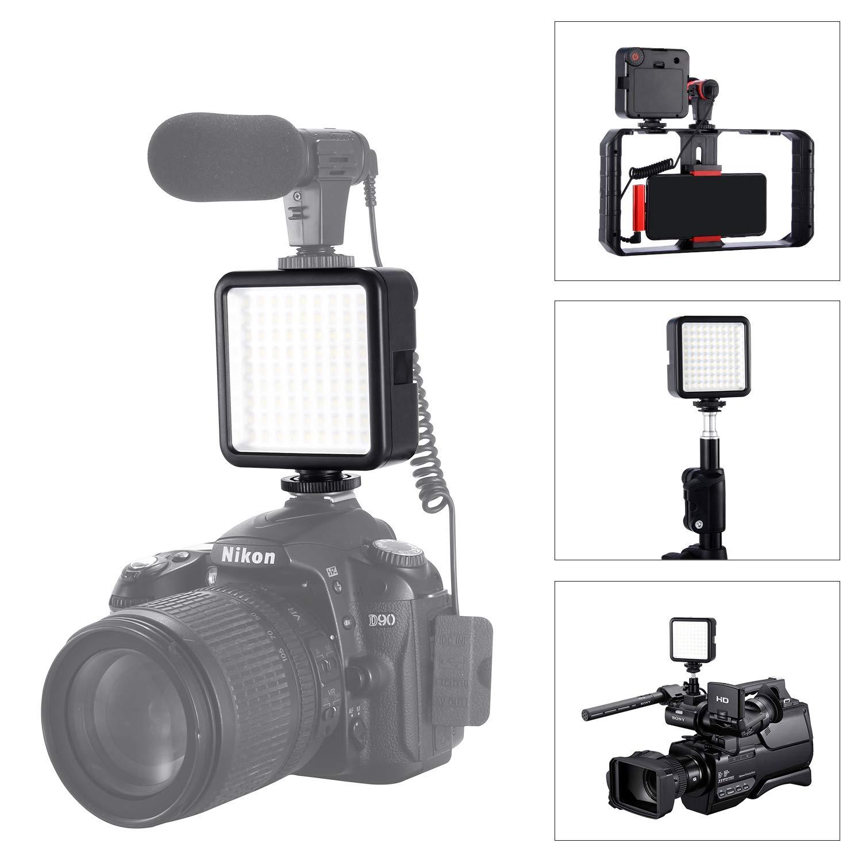 LED Video Light, Emiral Ultra Bright 81 LED Panel High Power Portable Camera Light for Canon, Nikon, Sony, Digital DSLR Cameras by Emiral