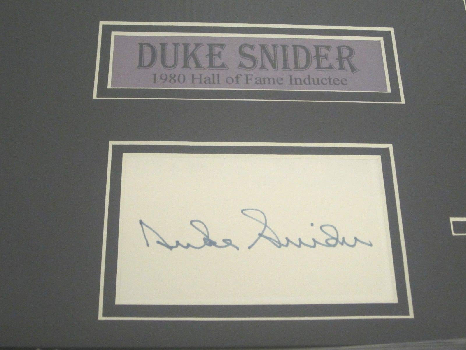 Mickey Mantle Willie Mays Duke Snider Autographed Signed Framed Matted Index Cards JSA Authentication