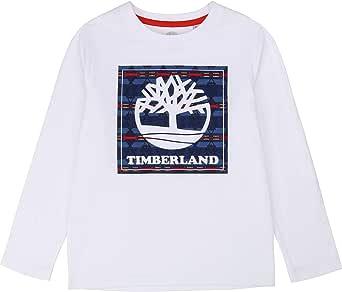 Timberland Camiseta de algodón orgánico NIÑO Blanco