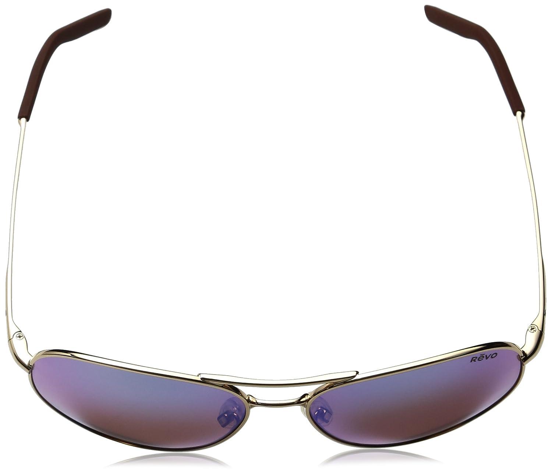 Revo Observer RE 1033 Polarized Aviator Sunglasses Gunmetal Blue Water 58 mm Revo Sunglasses