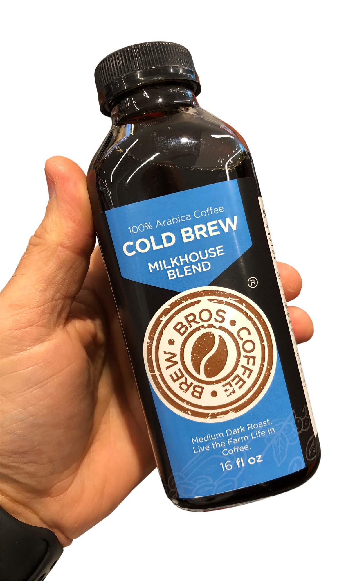 Artisan Small Batch Roasted 16 hour Brew Milkhouse COLD Brew Bros 16oz 8 pack Medium Dark Roast
