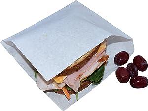 JA Kitchens Deli Wrappers/Double Open/Pretzel Bags, White (250 Count)