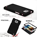New Official Speedythings ® Wallet Leather Flip Case Cover For Samsung Galaxy S2 i9100 + Free Screen Protector