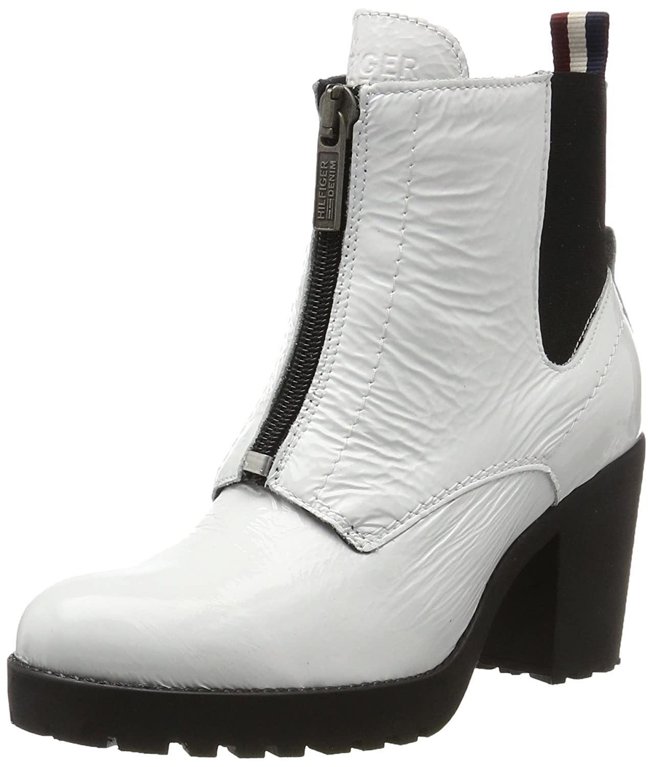 Tommy Jeans B1385oo 3a, Botas Chelsea para Mujer Blanco (White)