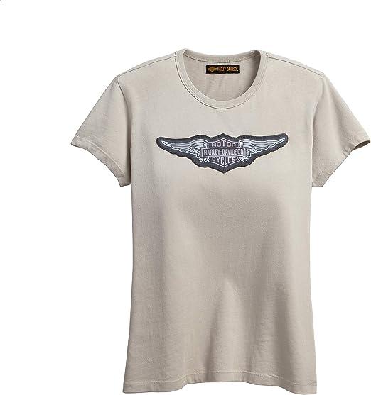 Harley-Davidson Camiseta con logo alado, color marrón - Beige - X-Large: Amazon.es: Ropa y accesorios