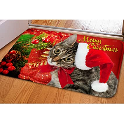 coloranimal christmas doormats outdoor mats door scraper funny cat printed entrance mats outdoor door mats