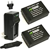 Wasabi Power Battery (2-Pack) and Charger for Canon LP-E17 and Canon EOS 77D, EOS 750D, EOS 760D, EOS 8000D, EOS M3, EOS M5, EOS M6, EOS Rebel T6i , EOS Rebel T6s, EOS Rebel T7i, Kiss X8i