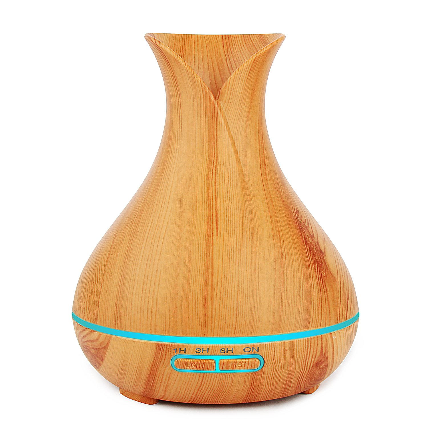 Aroma Oil Diffuser,Modern Wood finishing Mist Humidifier with Auto shut-off for Aroma Essential Oil
