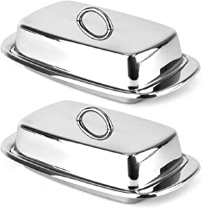 Norpro 282 Stainless Steel Double Covered Butter Dish 7.5