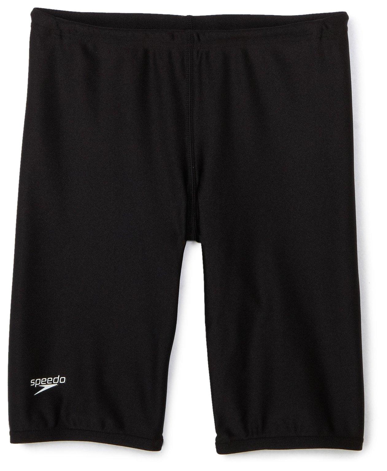 Speedo Boys' Jammer Swimsuit – PowerFlex Eco Solid